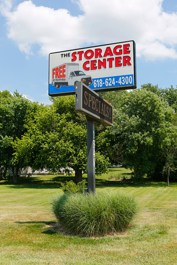 o'fallon il storage center sign