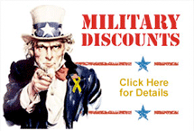 Military Discounts! Click here for details.